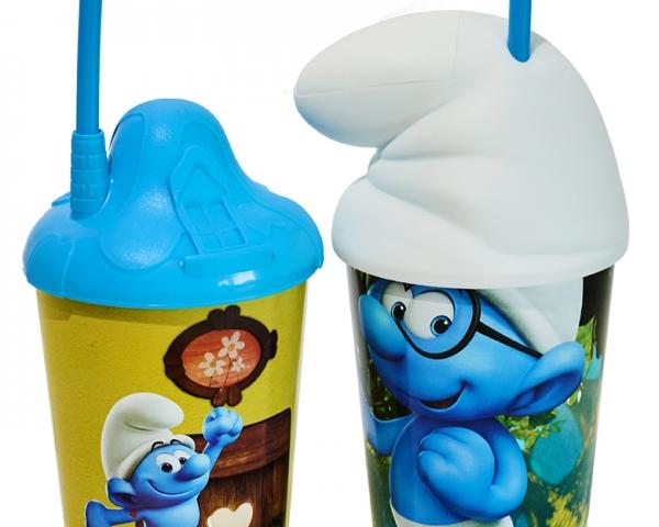 Cogumelo Casinha e Gorro Smurfs